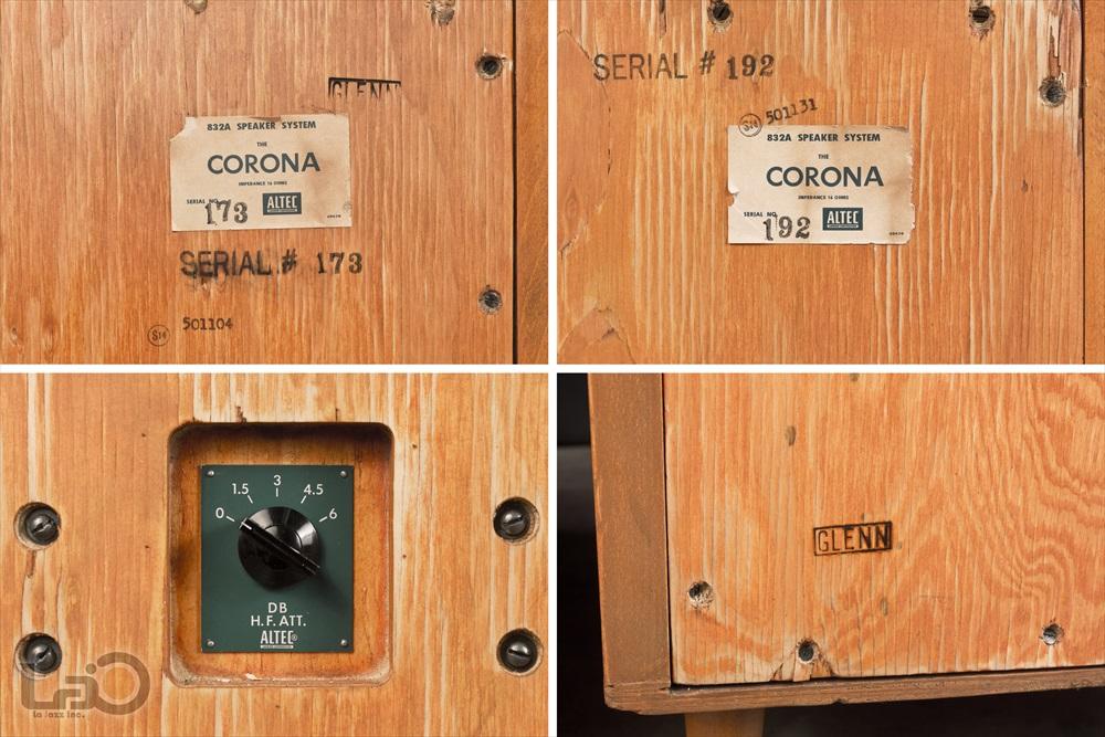 ALTEC 832A CORONA (803A/802D/N800E) ◇ アルテック コロナ 16Ω<BR>フロア型コーナー・スピーカー ペア10