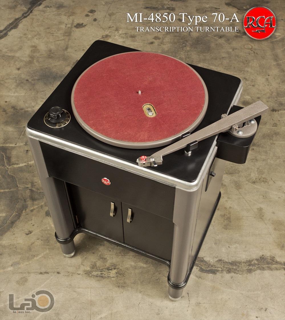RCA Type 70-A (MI-4850-A) ◇ 16インチ・局用ターンテーブル /  RCA純正モノ・トーンアーム/バリレラ