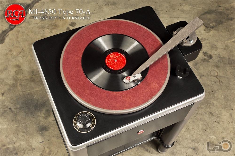 RCA Type 70-A (MI-4850-A) ◇ 16インチ・局用ターンテーブル /  RCA純正モノ・トーンアーム/バリレラ2