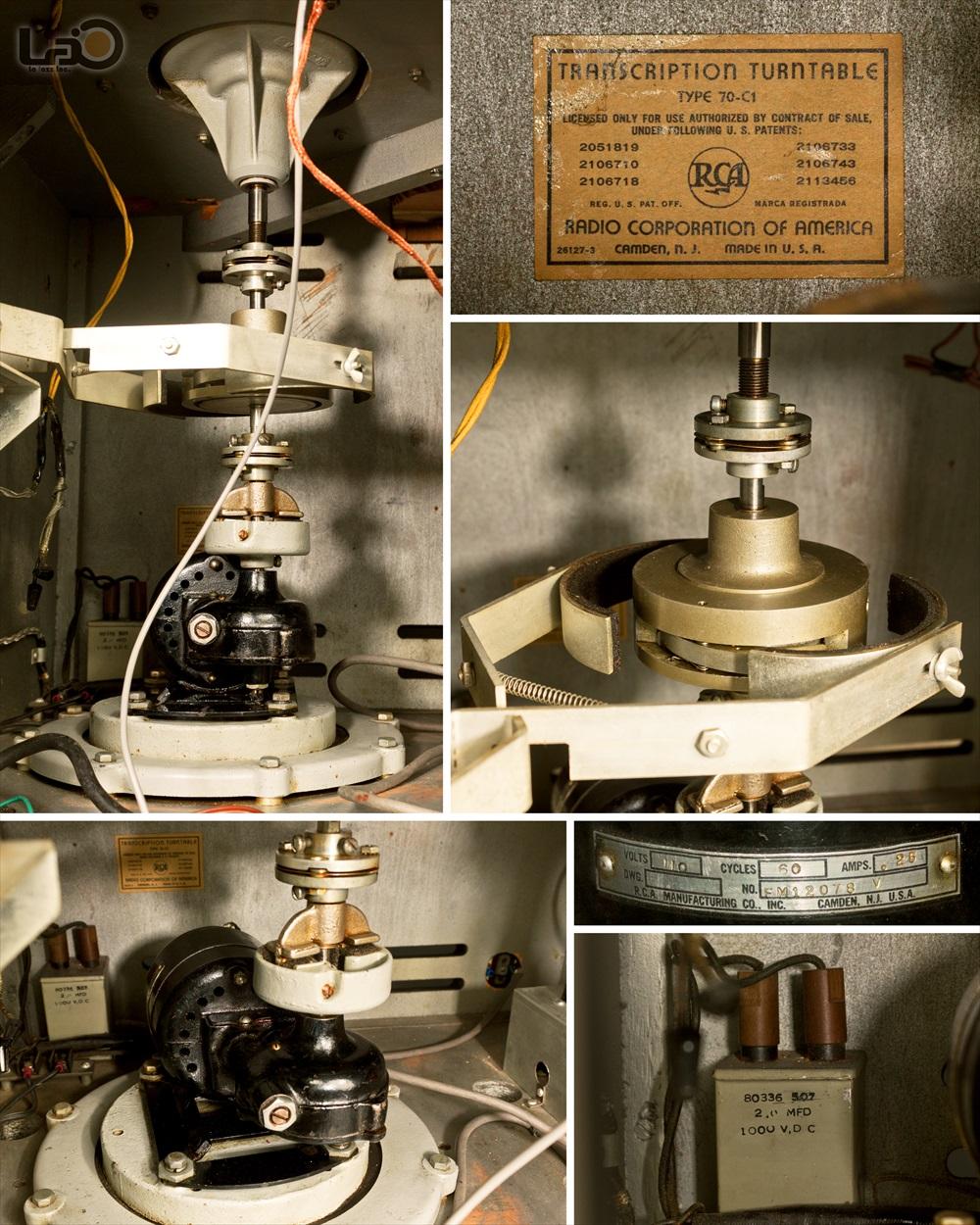 RCA Type 70-C (MI-4871) ◇ 16インチ・局用ターンテーブル / RCA純正トーンアーム16