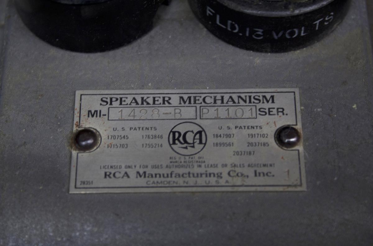 RCA – Speaker Mechanism MI-1428-B ◇ 13V フィールドコイル & ホーン5