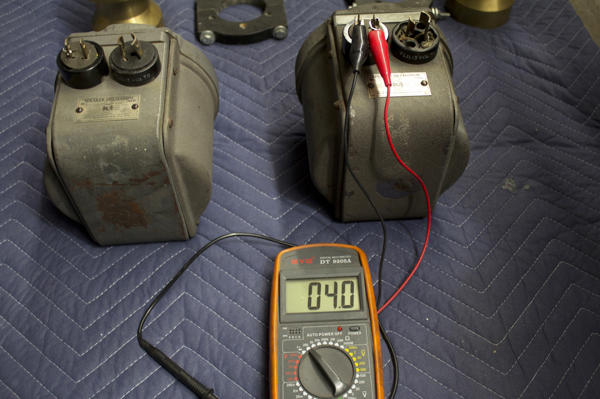 RCA – Speaker Mechanism MI-1428-B ◇ 13V フィールドコイル & ホーン11